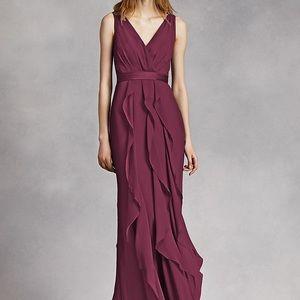 Vera Wang Bridesmaid Dress | Size 16 | Wine color